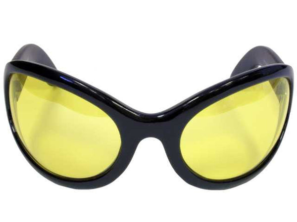 Yellow Lens Gothic Vampire Sunglasses Oversized Sexy Glasses