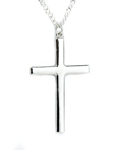Polished Metal Holy Cross Necklace Jewelry