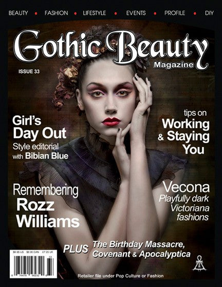 Gothic Beauty Magazine Issue 33 Music interviews with Covenant and Rozz Williams Tribute