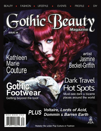 Gothic Beauty Magazine Issue 34 Music interviews with Voltaire, Lords of Acid, Dommin and Barren Earth