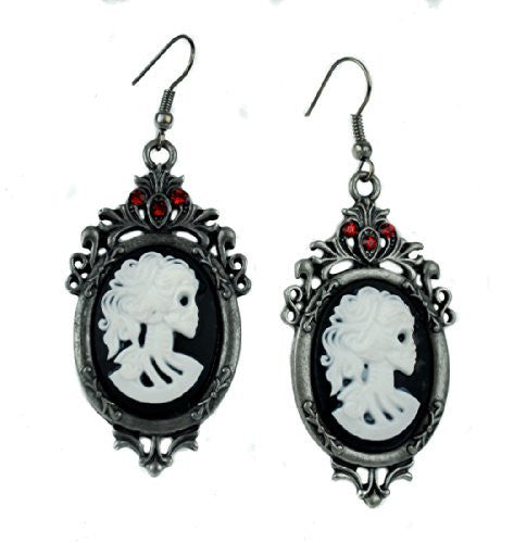Bone Cameo Skeleton Gothic Earrings Cosplay