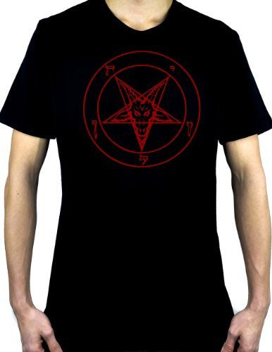 Red Pentagram Sabbatic Baphomet T-Shirt Occult Clothing