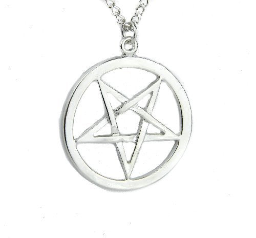 Inverted Woven Pentagram Necklace Occult Ritual  Pendant Jewelry