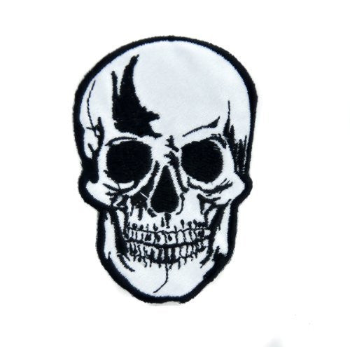 Biker Skull Iron On Patch Goth Deathrock Applique