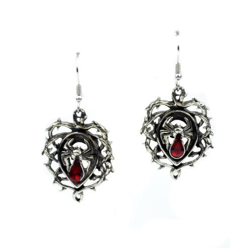 Thorn Vine Swarvoski Spider Gothic Earrings Cosplay