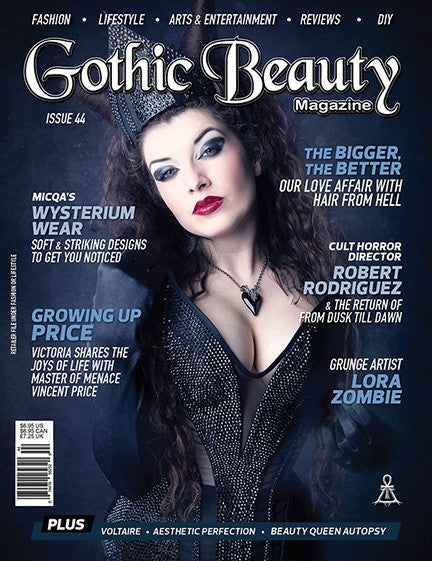 Gothic Beauty Magazine Issue 44 Music interviews with Voltaire, Aesthetic Perfection and Beauty Queen Autopsy