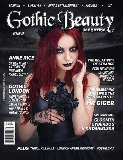 Gothic Beauty Magazine Issue 45 Music interviews with Thrill Kill Kult, London After Midnight and Nostalghia