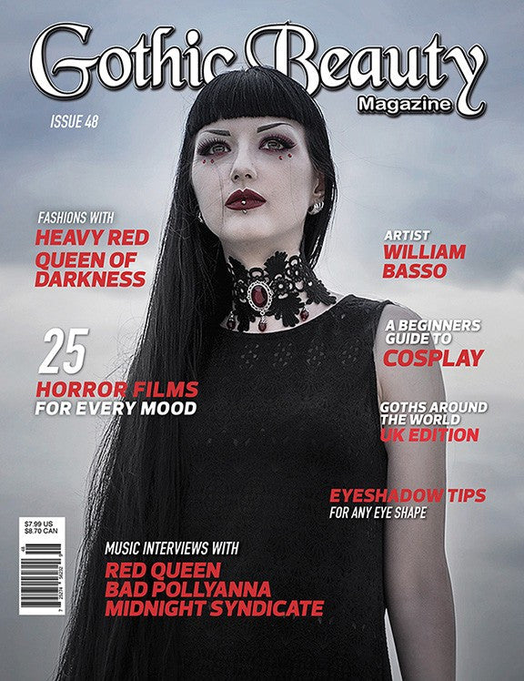 Gothic Beauty Magazine Issue 48 Music interviews with Red Queen, Bad Pollyanna and Midnight Syndicate
