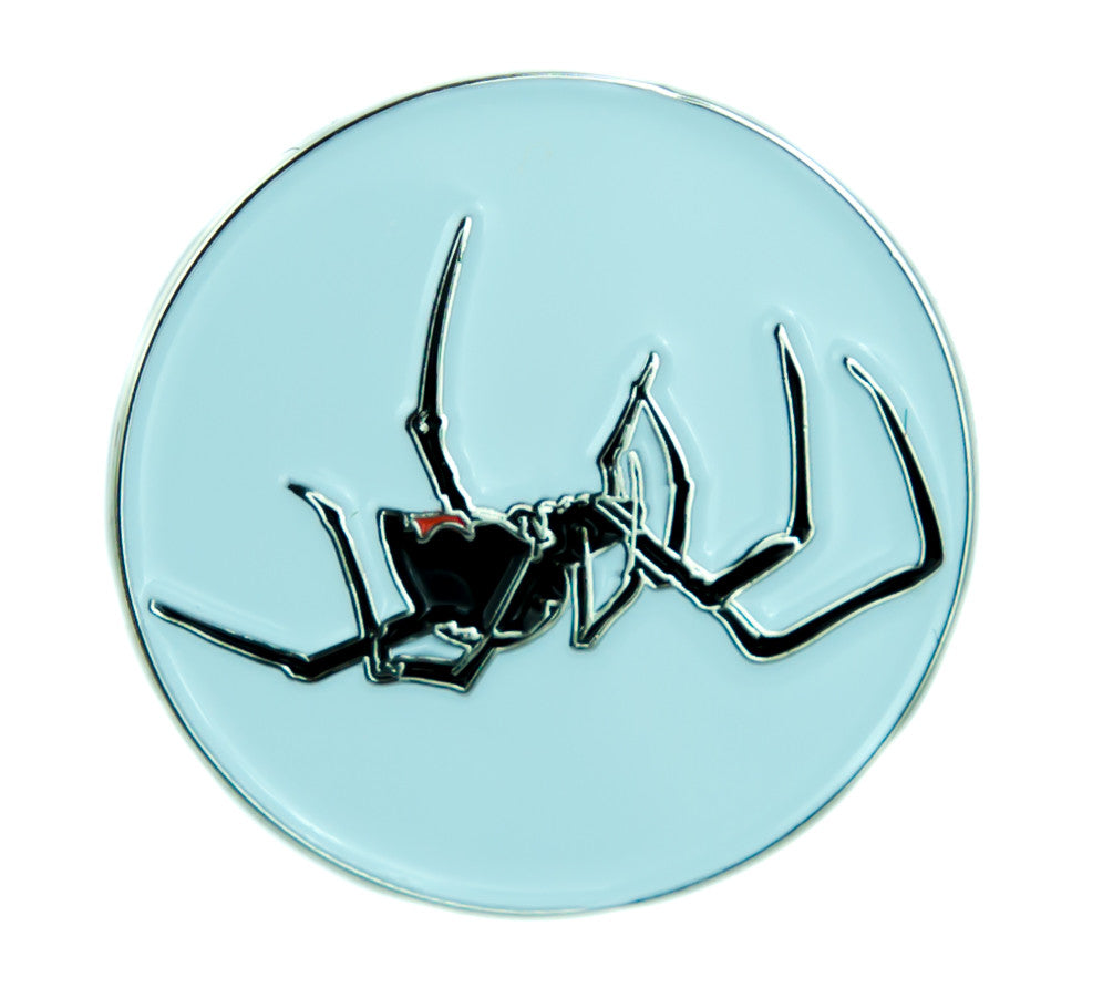 Black Widow Spider Lapel Pin Gothic Jewelry Deadly Insect Jacket Pin Taxidermy