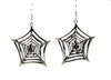 Red Stone Spider Web Gothic Earrings Cosplay