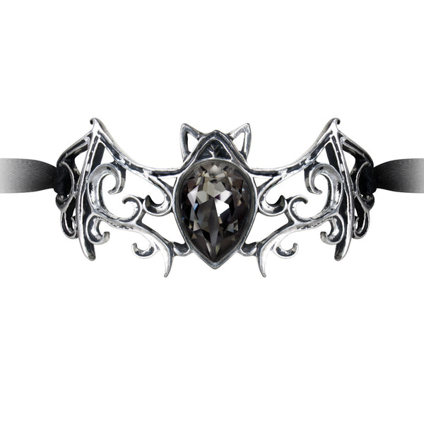Alchemy Gothic Viennese Nights Ribbon Bat Bracelet