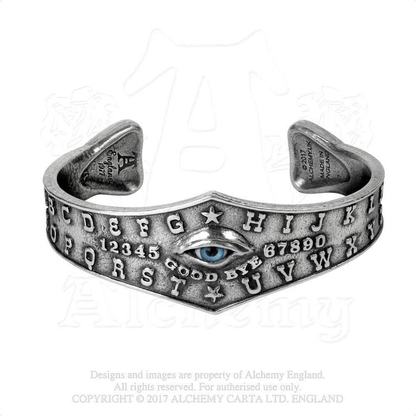 Alchemy Gothic Ouija Board Eye Bangle Bracelet