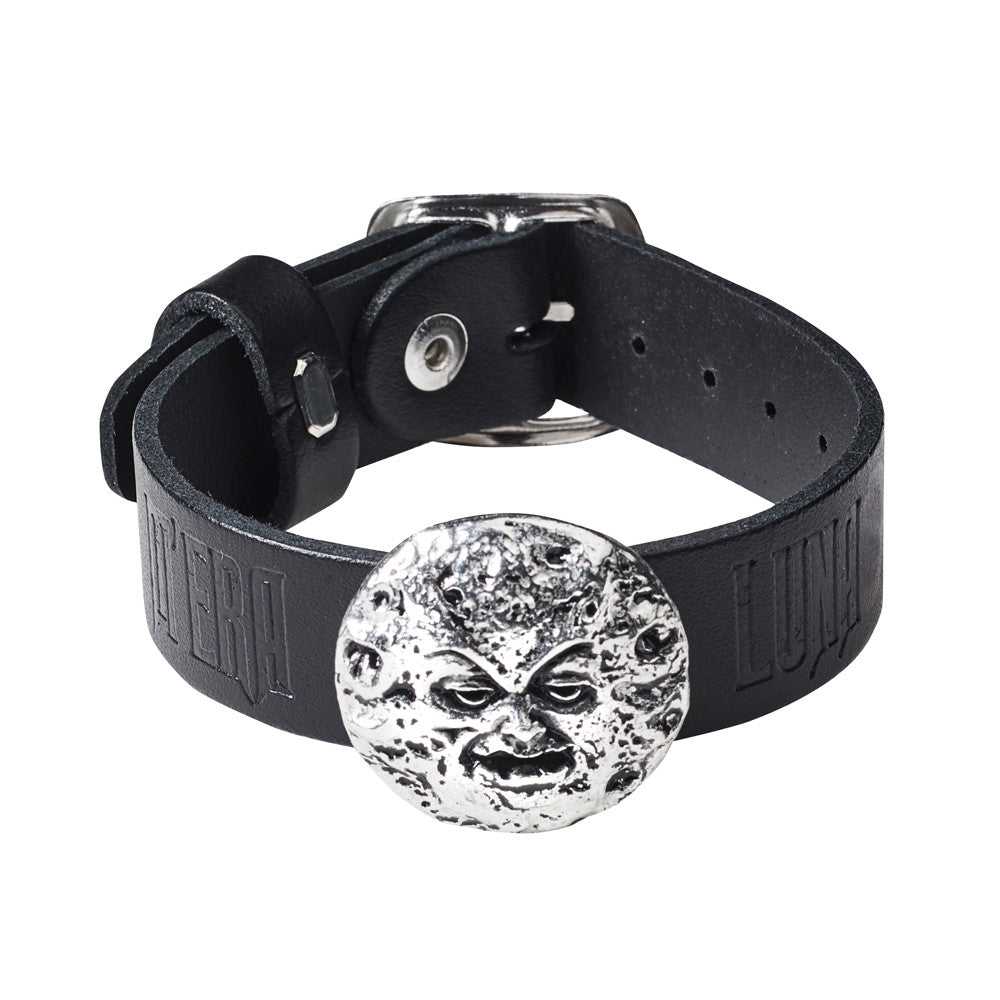 Alchemy Gothic Man In The Moon Wriststrap Wristband Mera Luna Jewelry