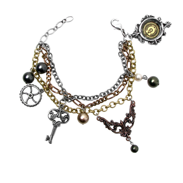 Alchemy Empire Mrs Hudson's Cellar Keys Bracelet Steampunk
