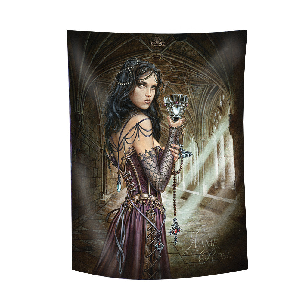 Alchemy Gothic The Name of the Rose Flag Girl with Cup