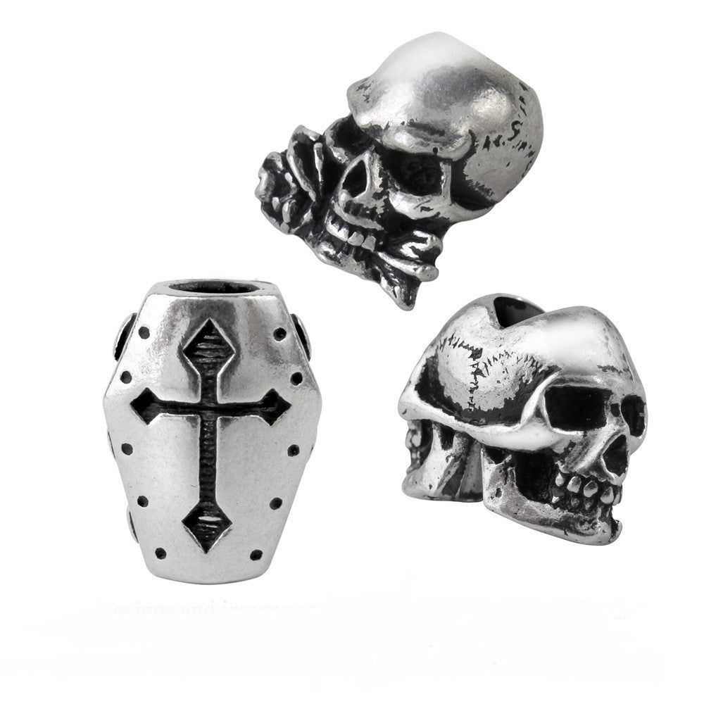 Alchemy Gothic Alchemy Beard or Hair Skulls & Coffin Rings/Beads