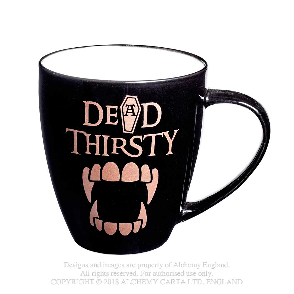 Alchemy Gothic Dead Thirsty Mug Coffin Vampire Fangs