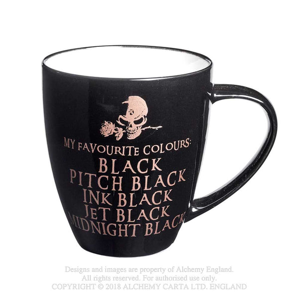 Alchemy Gothic Gold My Favourite Colours Mug Skull w/ Rose