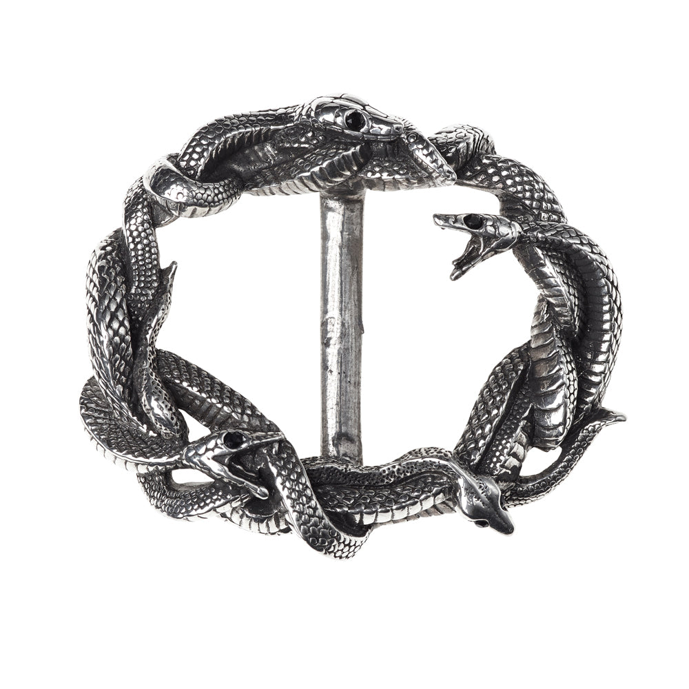 Alchemy Gothic Viper's Nest Snakes Serpents Belt Buckle Medusa