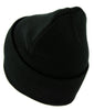 White Thorn Jagged Inverted Cross Cuff Beanie Knit Cap Black Metal Occult