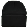 Red Inverted Pentagram Cuff Beanie Knit Cap Metal Occult