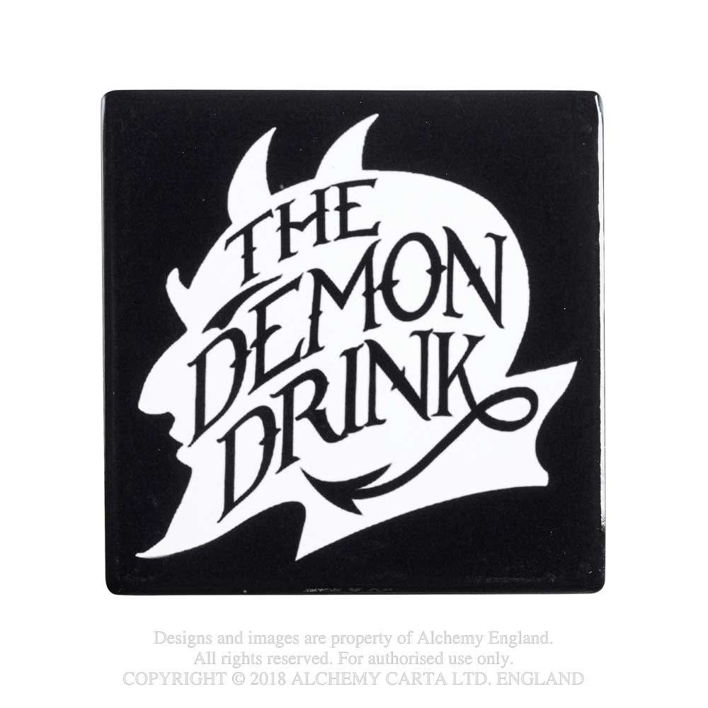 Alchemy Gothic The Demon Drink Coaster Devil Home Decor