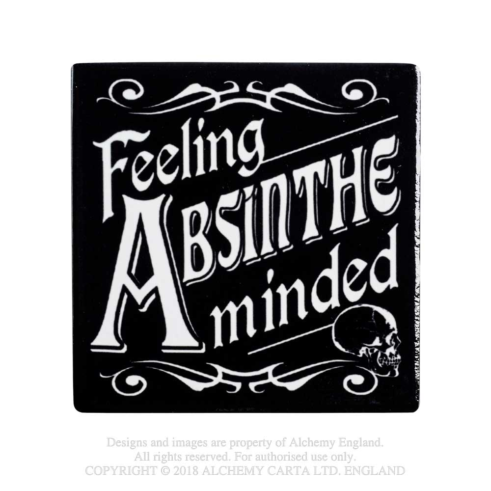Alchemy Gothic Feeling Absinthe Minded Coaster Occult Home Decor