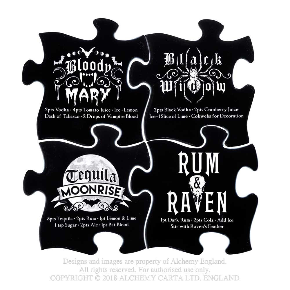 Alchemy Gothic Occult Cocktail Coaster Set of 4 Home Decor