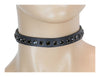 Black Rhinestone on Black Patent Leather Choker Collar Burlesque
