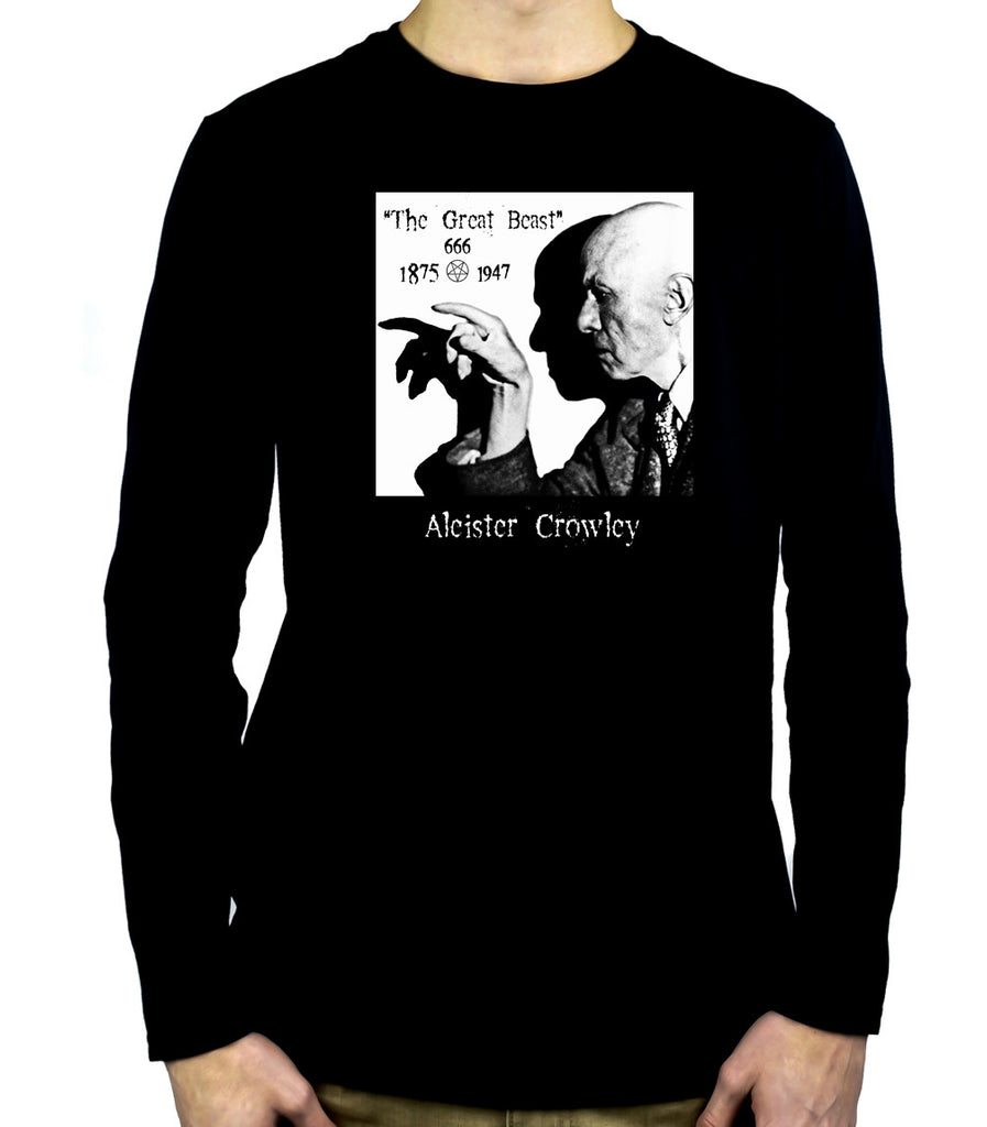 Aleister Crowley Men's Long Sleeve T-Shirt Occult the Great Beast 666