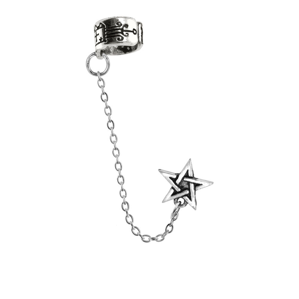 Alchemy Gothic Pentagram Ear Cuff