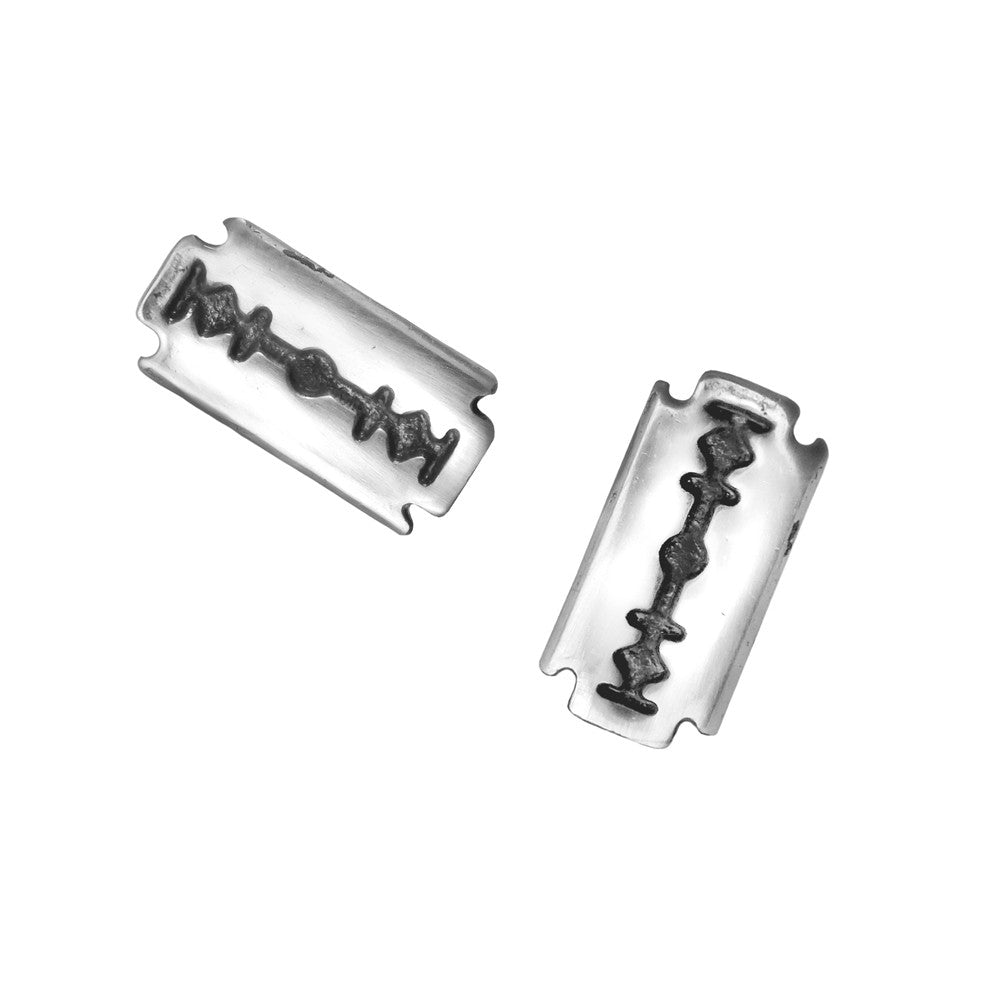 Alchemy Gothic Razor Blade Earrings