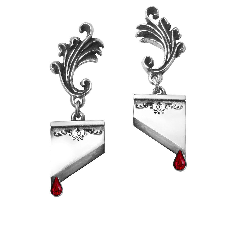 Alchemy Gothic Marie Antoinette Blade Earrings
