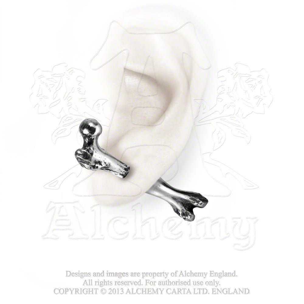 Alchemy Gothic Femur Skeleton Bone Earring