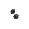 Alchemy Gothic Black Rose Stud Earrings