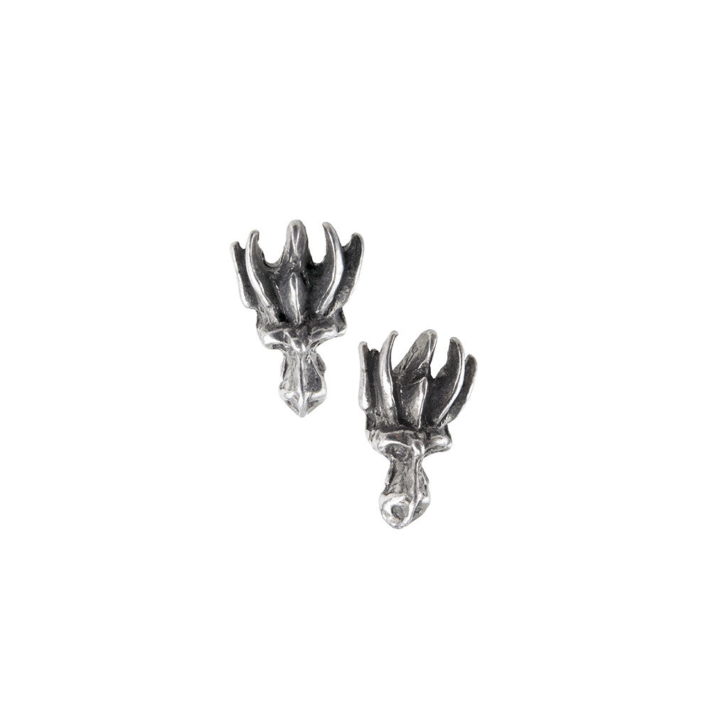 Alchemy Gothic Dragons Lure head Claw Stud Earrings