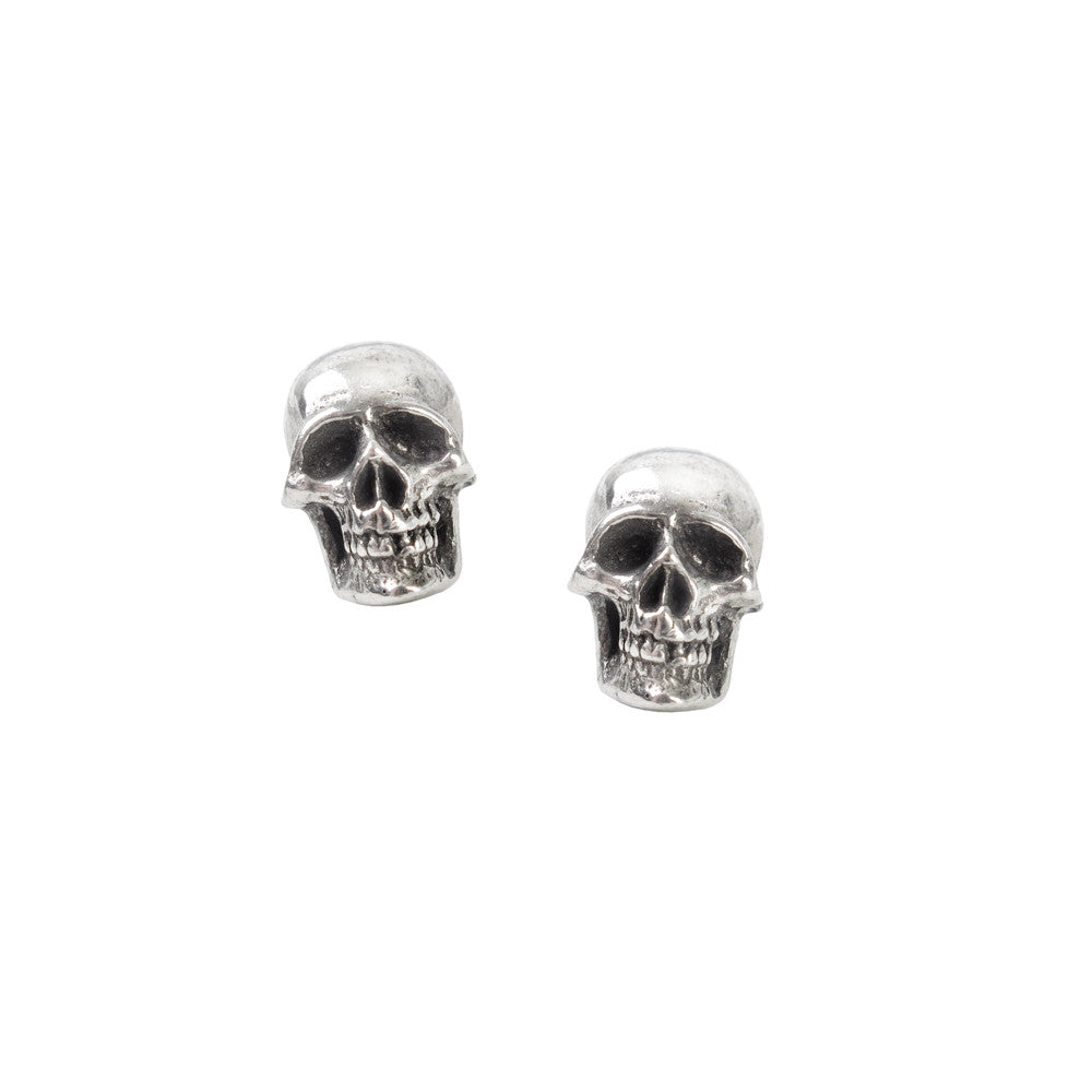 Alchemy Gothic Mortaurium Skull Stud Earrings