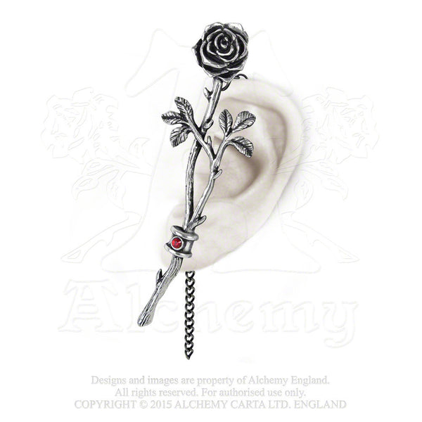 Alchemy Gothic Chained Love Rose Earwrap