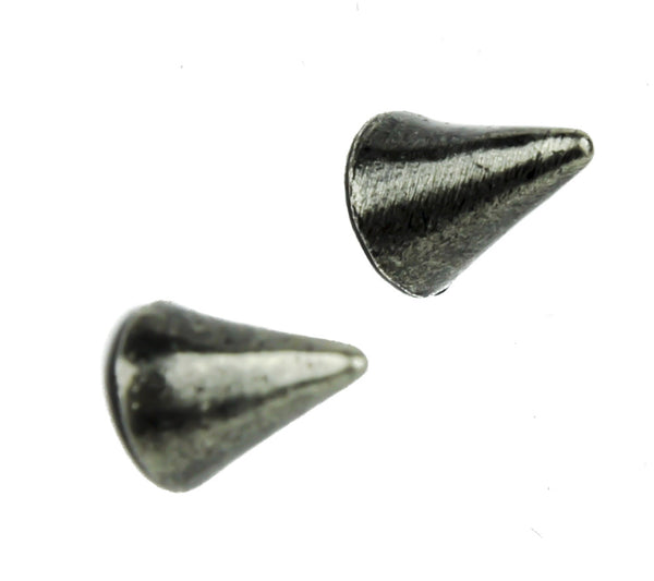 Silver Spike Earrings Studs Heavy Metal Jewelry