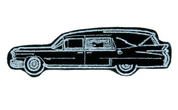 Funeral Hearse Car Patch Iron on Applique Alternative Gothic Clothing