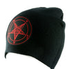Classic Red Baphomet Beanie Knit Cap Alternative Occult Clothing