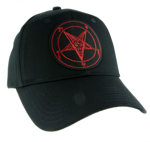 Red Classic Baphomet Hat Baseball Cap Alternative Occult Clothing