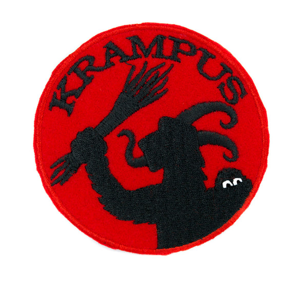 Gruss Vom Krampus Patch Iron on Applique Alternative Clothing Horror Christmas