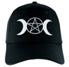 Triple Goddess Wicca Moon Pentagram Hat Baseball Cap Alternative Pagan Clothing Witchcraft