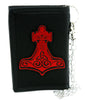 Red Hammer of Thor Tri-fold Wallet Alternative Clothing Odin Norse Mythology