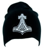 White Mjolnir Thor's Hammer Norse Viking God Beanie Alternative Clothing Knit Cap