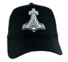 White Thor's Hammer Norse Viking Symbol Hat Baseball Cap Alternative Clothing