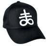 Crux Satanus Leviathan Cross Hat Baseball Cap Occult Clothing Black Sulphur