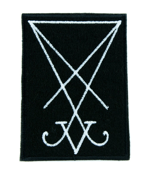 The Sigil of Lucifer Patch Iron on Applique Occult Clothing Seal of Satan Symbol
