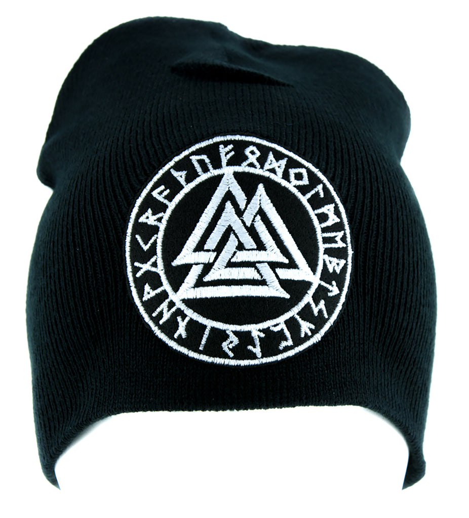 Valknut Odin Viking Symbol Beanie Alternative Clothing Knit Cap Norse Mythology